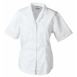 J&N Business rövid ujjú női blúz, fehér S