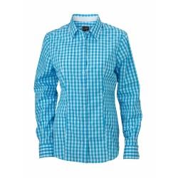 J&N Ladies' Checked Blouse, kék XXL