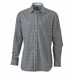 J&N Men's Checked Shirt, fekete S