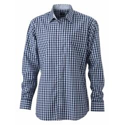 J&N Men's Checked Shirt, kék M