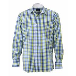 J&N Men's Checked Shirt, kék L