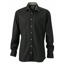 J&N Men's Plain Shirt, fekete 3XL