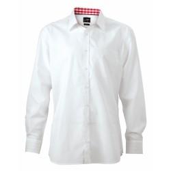 J&N Men's Plain Shirt, fehér 3XL