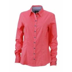 J&N Ladies' Shirt női blúz, piros XS