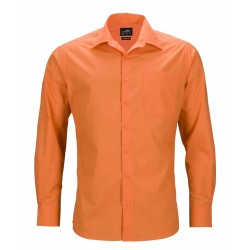 J&N Business hosszú ujjú férfi ing, narancssárga XL