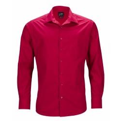 J&N Business hosszú ujjú férfi ing, piros 5XL