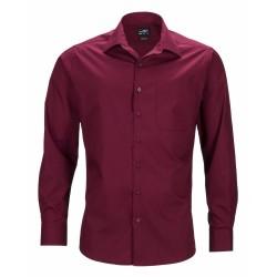 J&N Business hosszú ujjú férfi ing, natúr XL