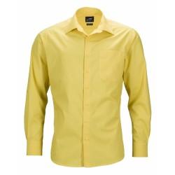 J&N Business hosszú ujjú férfi ing, sárga M