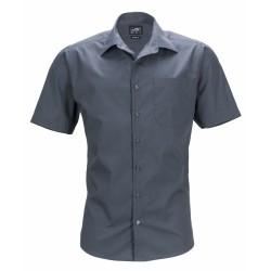 J&N Men's Business Shirt Shortsleeve, szürke XL