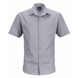 J&N Men's Business Shirt Shortsleeve, szürke 6XL