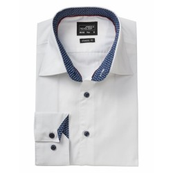 J&N Plain hosszú ujjú ing, fehér XL