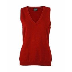 J&N Ladies' V-Neck Pullunder, piros M