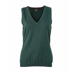 J&N Ladies' V-Neck Pullunder, zöld S