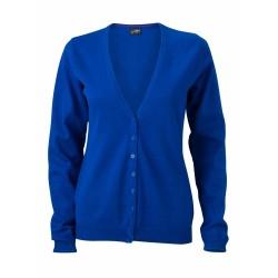 J&N Ladies' V-Neck Cardigan, kék XL