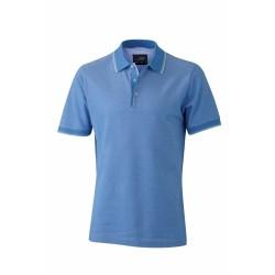 J&N Men's Polo galléros póló, kék XL