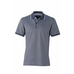 J&N Men's Polo galléros póló, kék 3XL