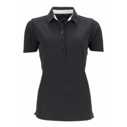 J&N női galléros póló mintás gallérral, fekete S