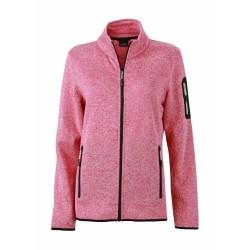 J&N Ladies' Knitted Fleece pulóver, rózsaszín S