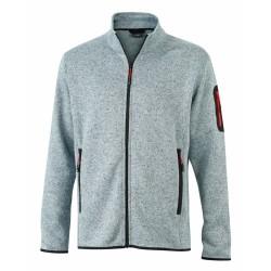 J&N Men's Knitted Fleece pulóver, szürke 3XL