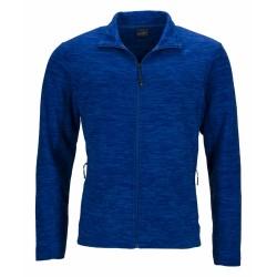 J&N cipzáras polár pulóver, kék XXL