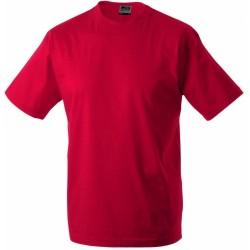 J&N Workwear-T kereknyakú póló, piros XXL