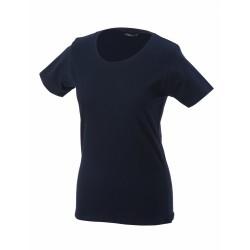 J&N Workwear-T női kereknyakú póló, szürke M