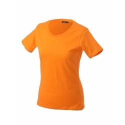 J&N Workwear-T női kereknyakú póló, narancssárga XXL