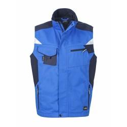 J&N Workwear mellény, kék XXL