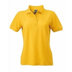J&N Ladies' Workwear női galléros póló, arany XXL
