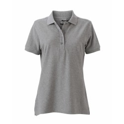 J&N Ladies' Workwear női galléros póló, szürke S