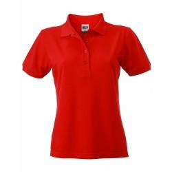 J&N Ladies' Workwear női galléros póló, piros 3XL