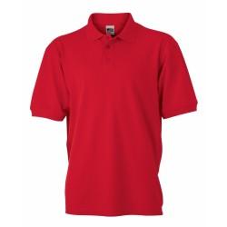 J&N Men's Workwear galléros póló, piros S