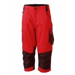 J&N Workwear 3/4-es nadrág, piros 48