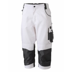 J&N Workwear 3/4-es nadrág, fehér 54