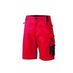 J&N Workwear bermuda nadrág, piros 52