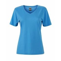 J&N Ladies' Workwear-T női munkapóló, kék XXL