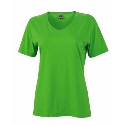 J&N Ladies' Workwear-T női munkapóló, zöld M