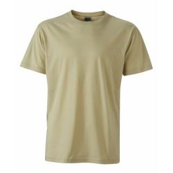 J&N Men's Workwear-T kereknyakú póló, szürke 4XL
