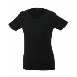 J&N Ladies' Basic-T női póló, fekete 3XL
