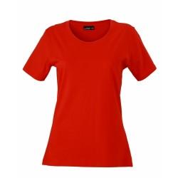 J&N Ladies' Basic-T női póló, piros L