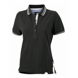 J&N Lifestyle női galléros póló, fekete S