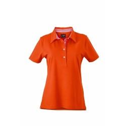 J&N Ladies' Plain Polo női galléros póló, narancssárga L