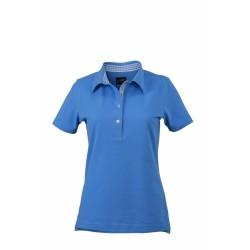 J&N Ladies' Plain Polo női galléros póló, kék L