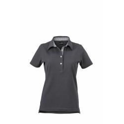 J&N Ladies' Plain Polo női galléros póló, szürke XL