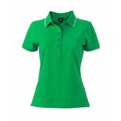 J&N Ladies' Polo női galléros póló, zöld L