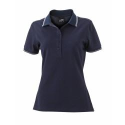 J&N Ladies' Polo női galléros póló, kék XL