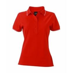 J&N Ladies' Polo női galléros póló, piros L