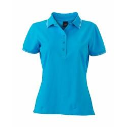 J&N Ladies' Polo női galléros póló, kék M