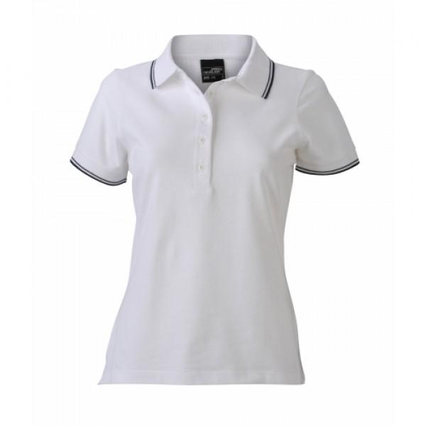 979689c289 J&N Ladies' Polo női galléros póló, fehér XL - Poloemblémázás.hu