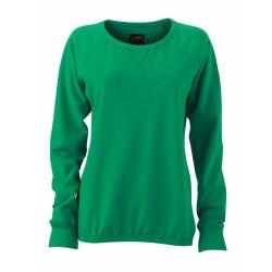 J&N Men's Basic Sweat pamut pulóver, zöld XXL